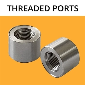 316 Stainless Steel Threaded Ports